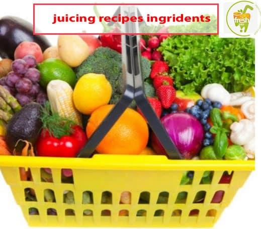 ingredients of juicing recipe