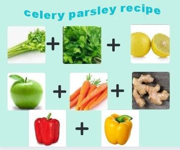 Celery parsley recipe ingredients