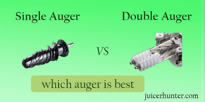 single vs double auger cold press juicer